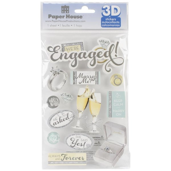 3D Engaged Stickers