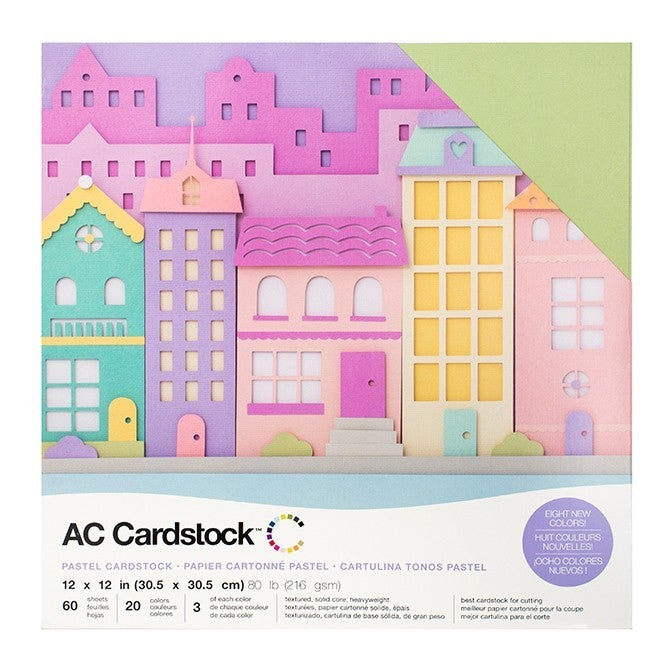 American Crafts Pastels Cardstock Pack Qty 60