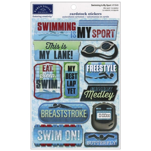 Swim Team Stickers