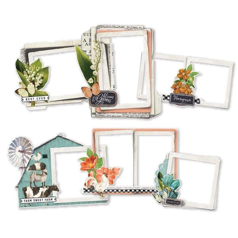 Simple Stories Farmhouse Garden Chipboard Frames
