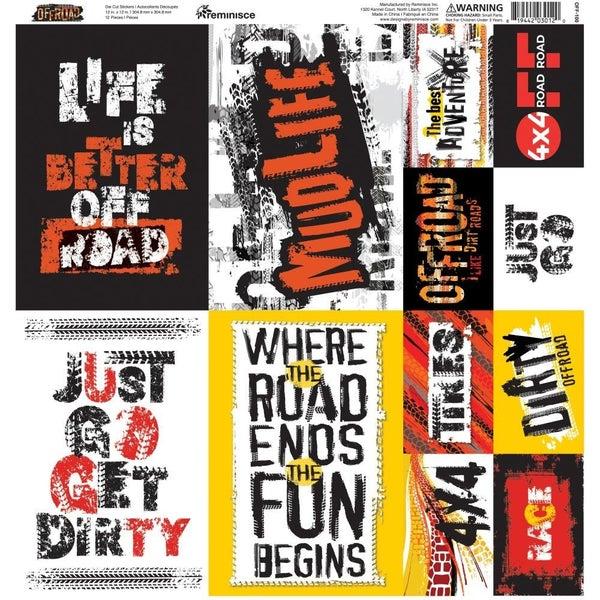 Off Road 12x12 Sticker Sheet