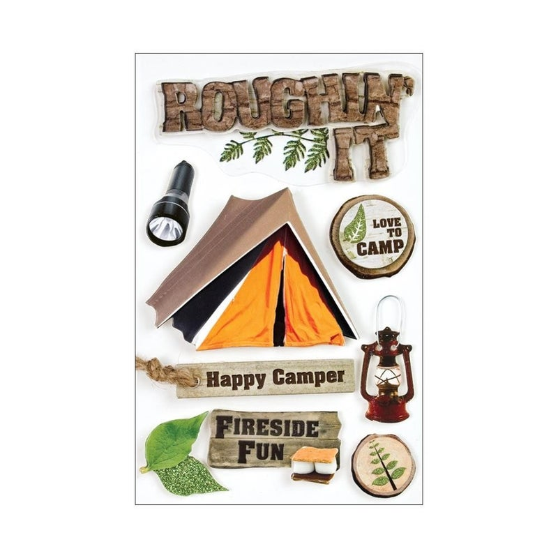 Roughin it Outdoors 3D Stickers