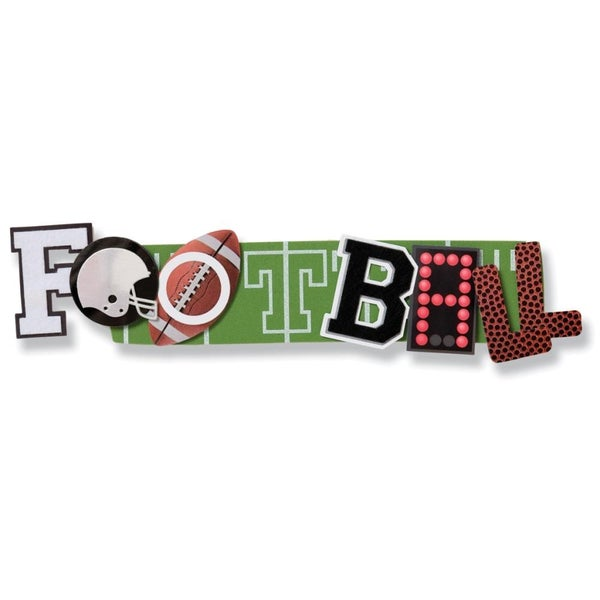 Football Stacked Statement Sticker