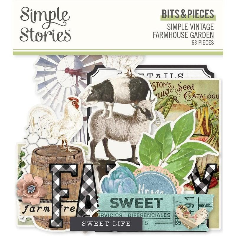 Simple Stories Farmhouse Garden Bits & Pieces Die Cuts