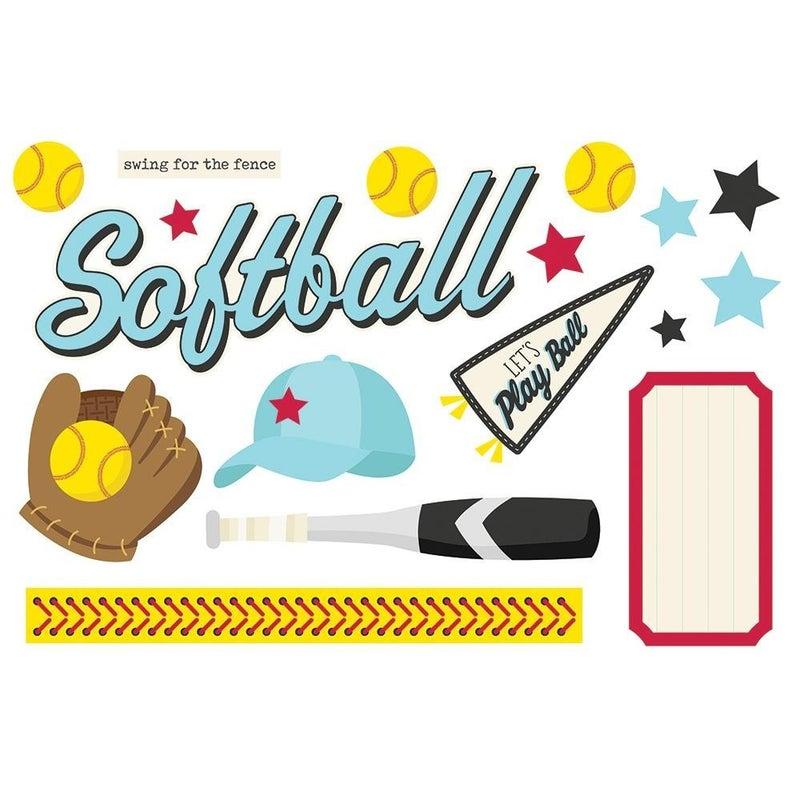 Softball Page Pieces