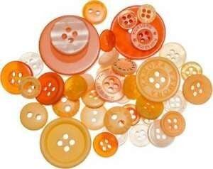 Buttons Mason Jar - Mango