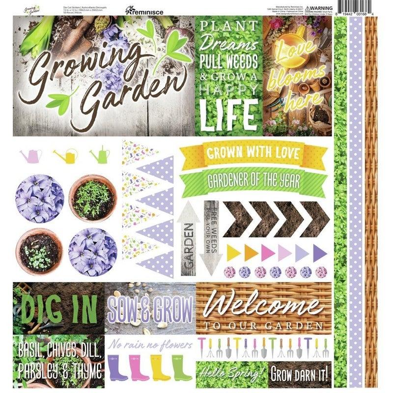 Growing Garden 12x12 Sticker Sheet