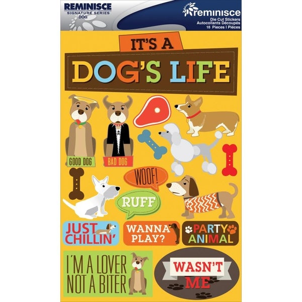 Dog's Life Pet 3D Stickers
