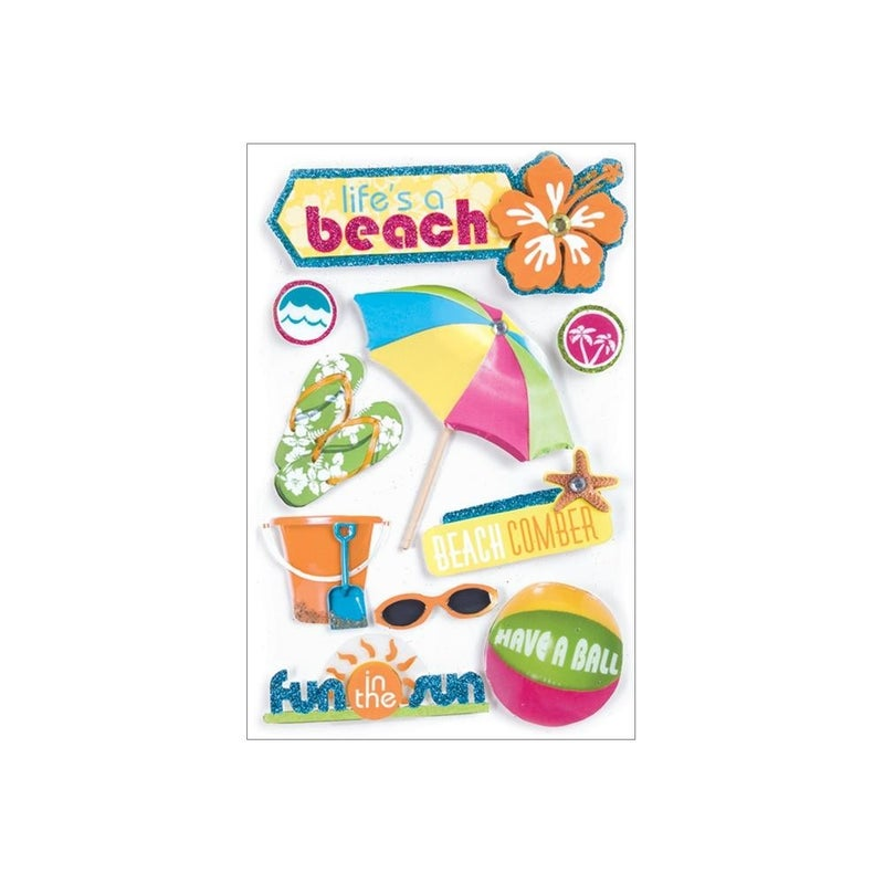 Life's a Beach 3D Stickers