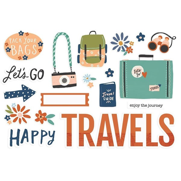 Happy Travels - Safe Travels Page Pieces