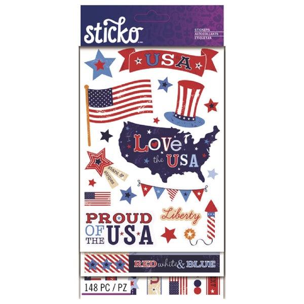 Patriotic USA Sticker Pack