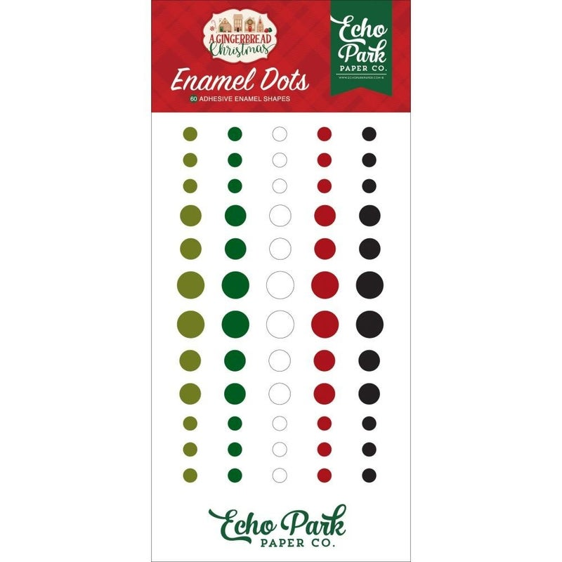 Gingerbread Enamel Dots