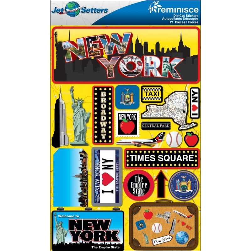 Jet Setters New York Stickers