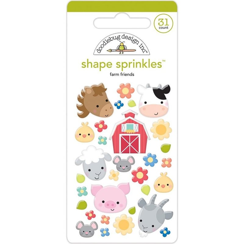 Doodlebug Shapes - Farm Friends