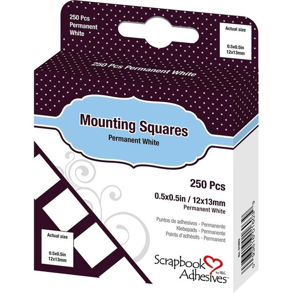 """Mounting Adhesive Squares - .5""""x.5"""""""