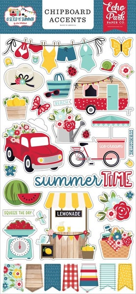 A Slice of Summer Chipboard Accents