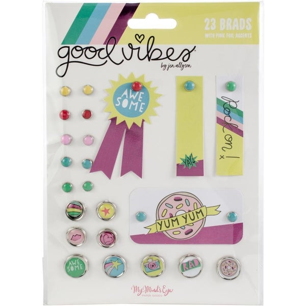 Good Vibes Decorative Brads