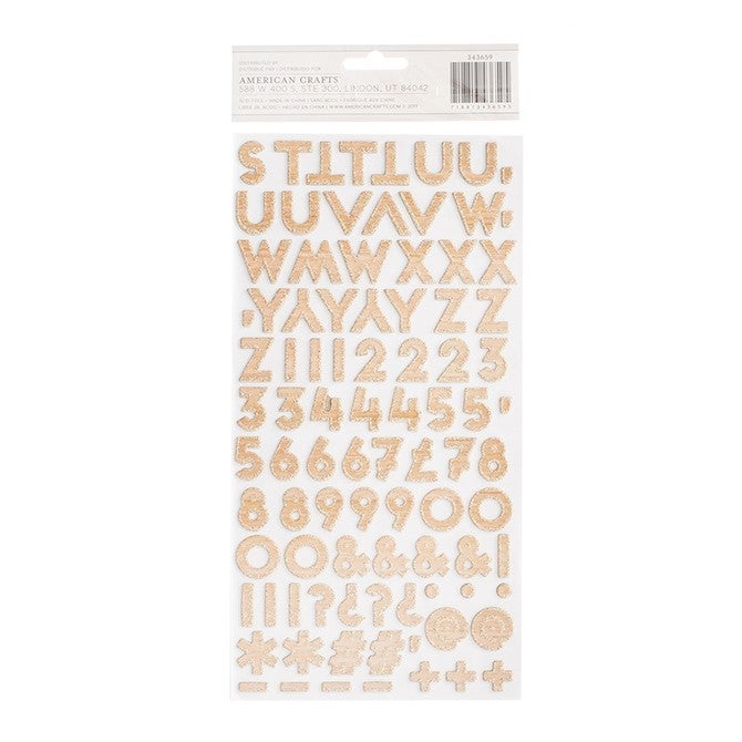 Marquee Chipboard Alphabet Thickers