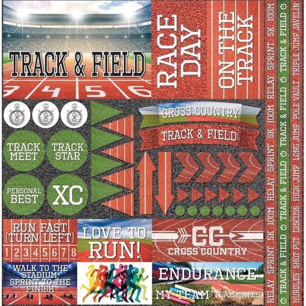 Track 12x12 Sticker Sheet