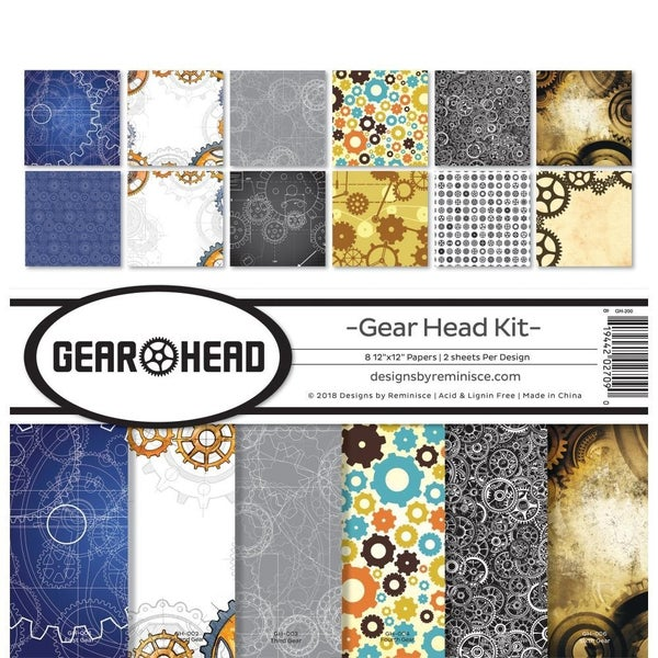 Gear Head Masculine Paper Pack
