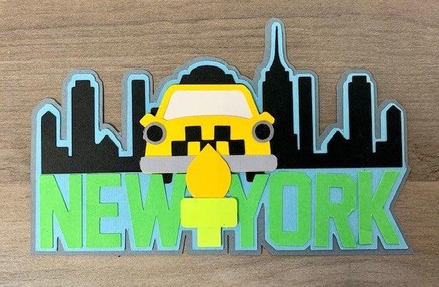 New York Die Cut Size 5 x 3