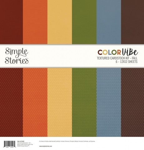 Fall Textured Cardstock Pack