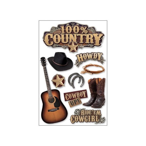 Country 3D Stickers