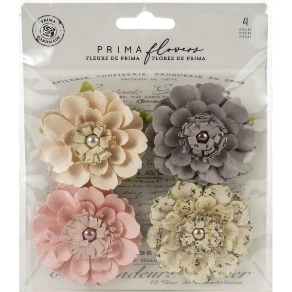 Prima Mulberry Paper Flowers -4 pcs