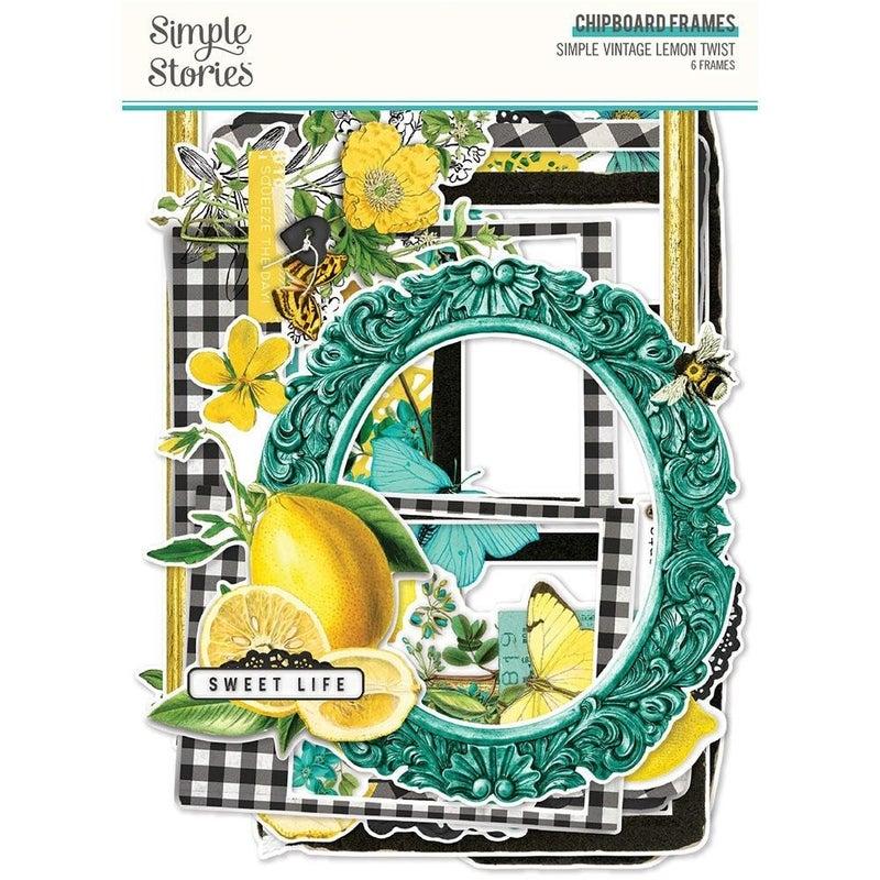 Simple Vintage Lemon Twist Chipboard Frames