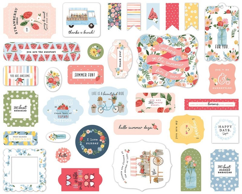 Summer Ephemera Die Cuts