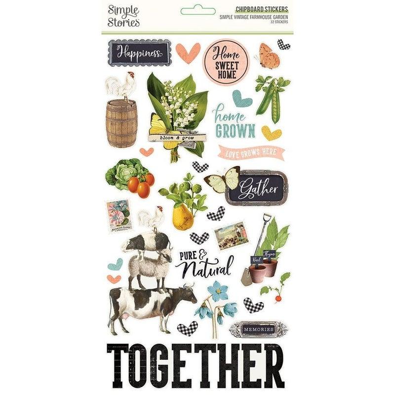 Farmhouse Garden Chipboard Stickers