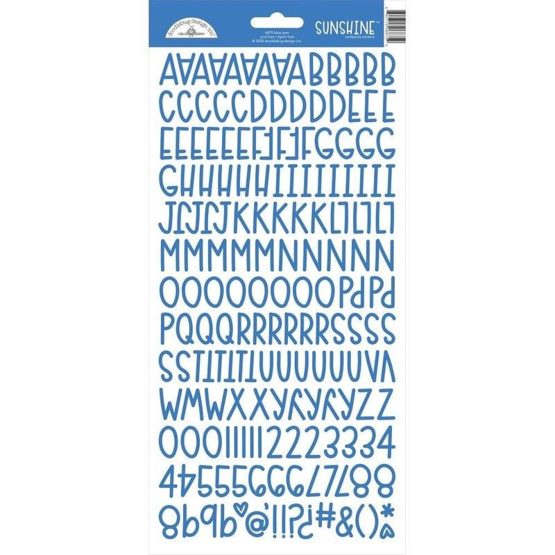 Sunshine Alphabet Stickers - Blue Jean