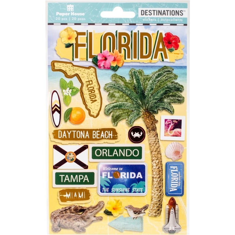 Florida Travel 2D Stickers