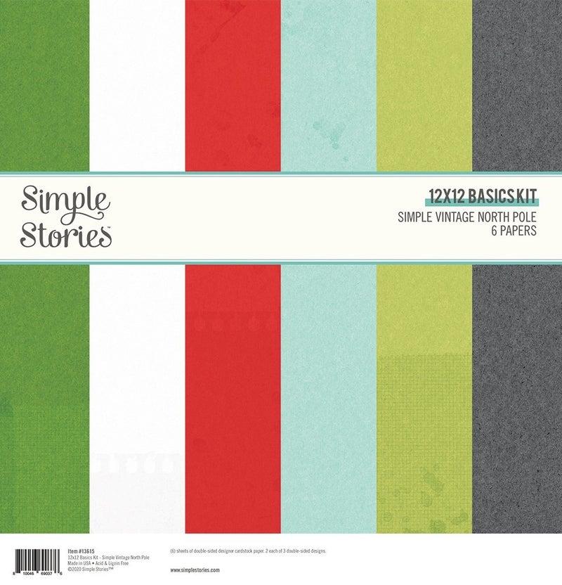 Simple Vintage North Pole Basics Paper Pack