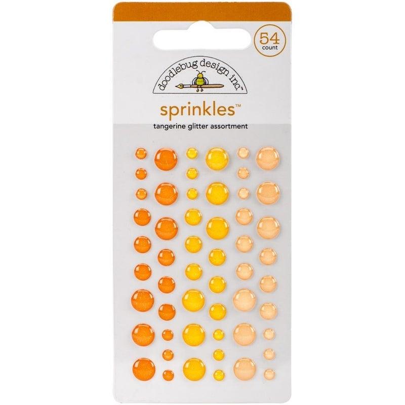 Doodlebug Glitter Sprinkles - Tangerine