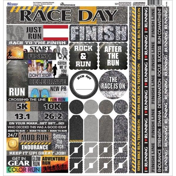 Running 12x12 Sticker Sheet