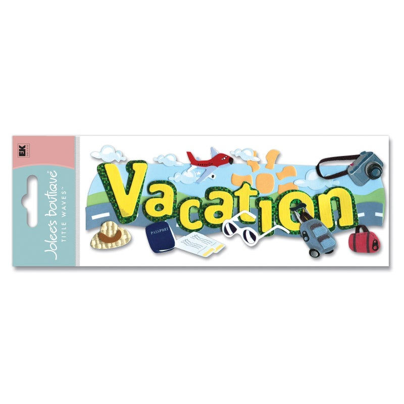 Vacation 3D Title Sticker