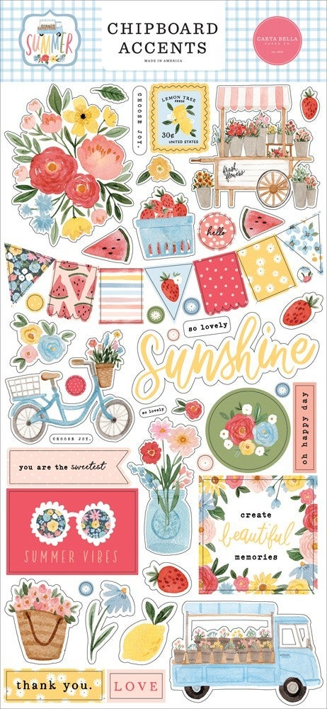 Summer Chipboard Accents