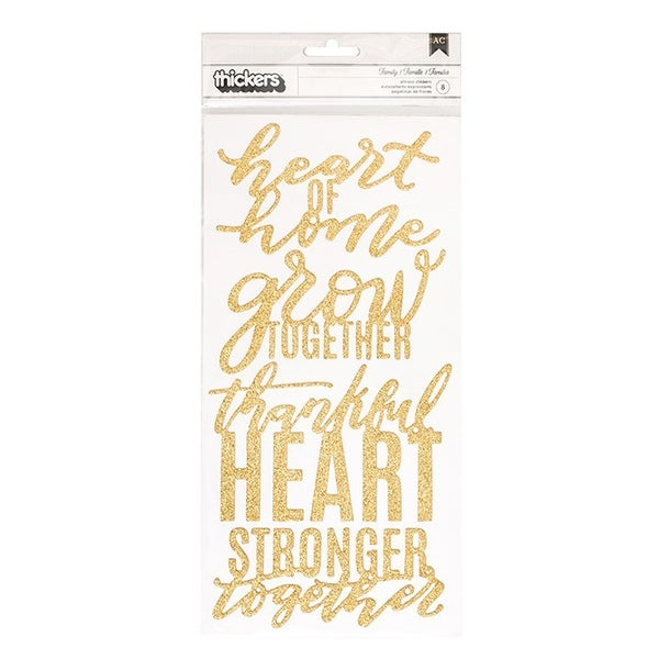 Family Heart of Home Phrase Thickers