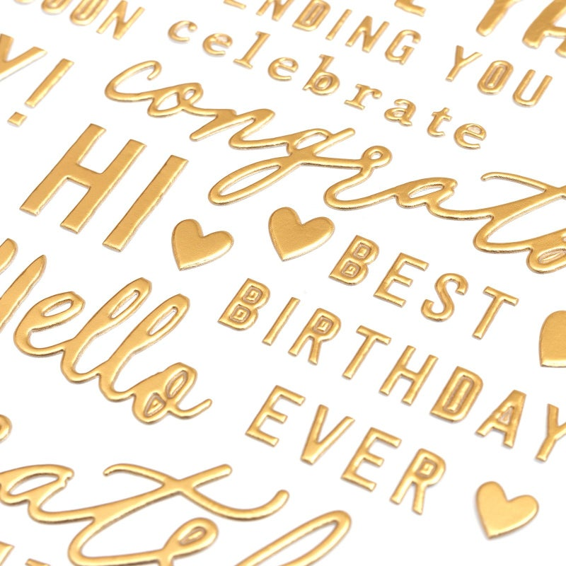 Hey Hello Gold Phrases Thickers