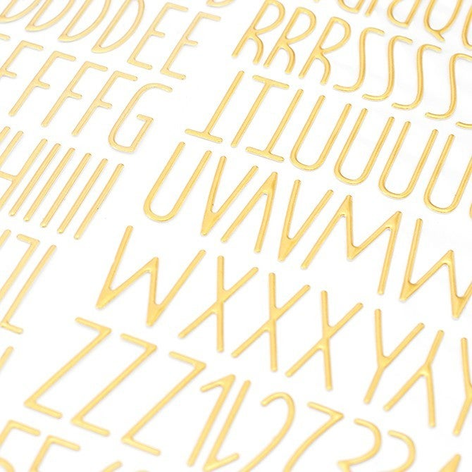 Desktop Puffy Gold Alphabet Thickers