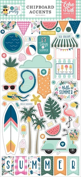 Pool Party Chipboard Accents