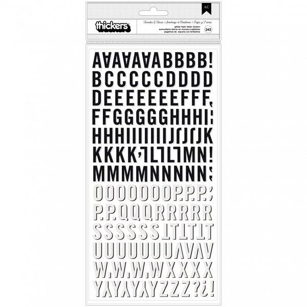 Tuxedo & Tiara Black & White Alphabet Stickers
