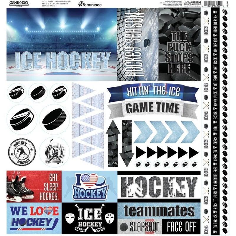 Ice Hockey Sticker Sheet