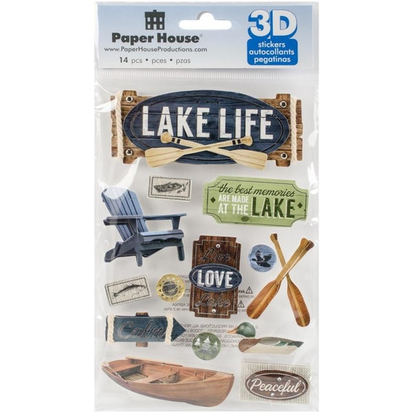 3D Lake Life Stickers