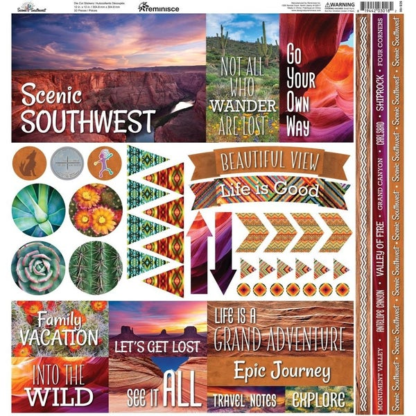 Scenic Southwest 12x12 Sticker Sheet