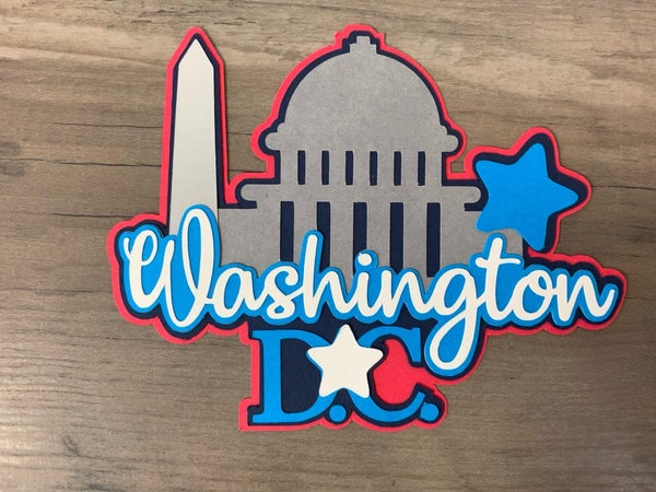 Washington DC Die Cut Size 4 1/2 x 3 1/2