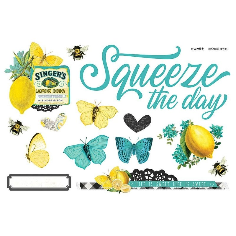 Squeeze the Day Page Pieces - SV Lemon Twist