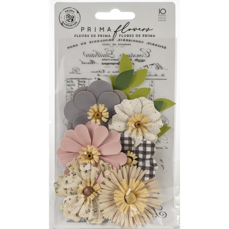 Prima Mulberry Paper Flowers -10 pcs