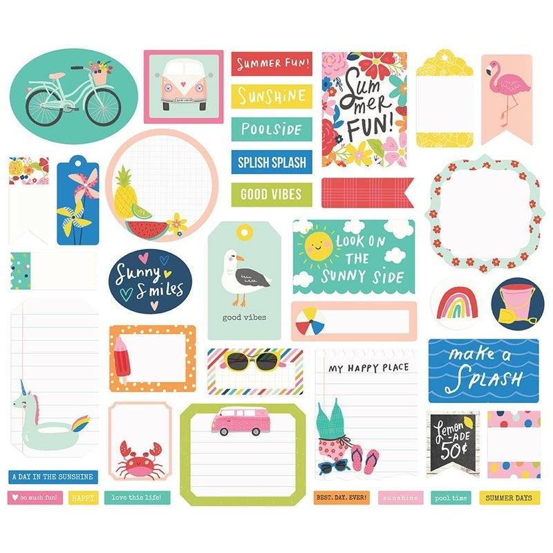 Simple Stories Sunkissed Summer Journal Bits Die Cuts